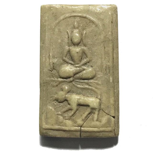 Pra Somdej Song Suea Buddha Riding Tiger Amulet in Nuea Pong Nam Man