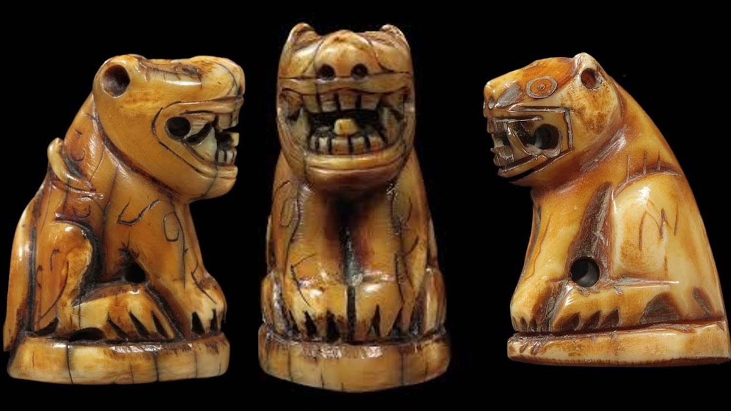 Suea Luang Por Parn Carved Tiger Tooth Amulet