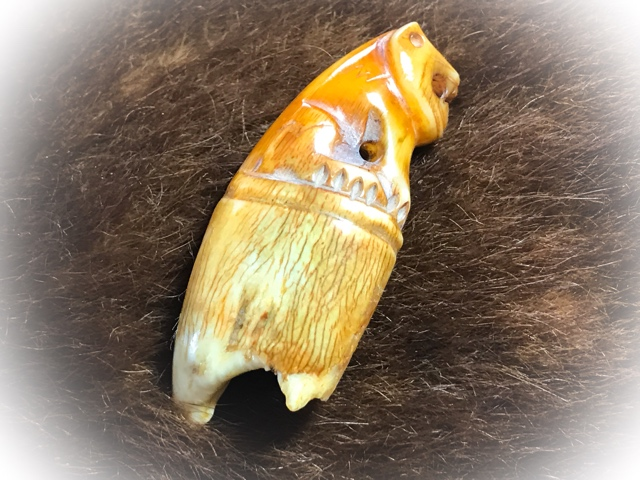 Carved Tooth Tiger Amulet for Protection LP Parn (14)