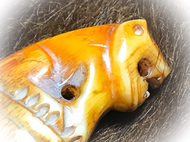 Carved Tooth Tiger Amulet for Protection LP Parn (27)