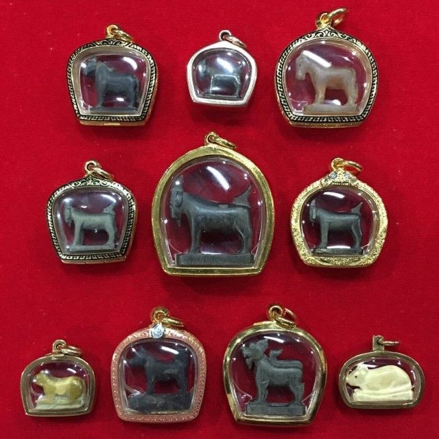 Pae Maha Lap Lucky Goat amulets of LP Am